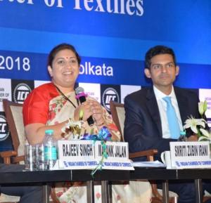 With Textile Minister Mrs Smriti Irani